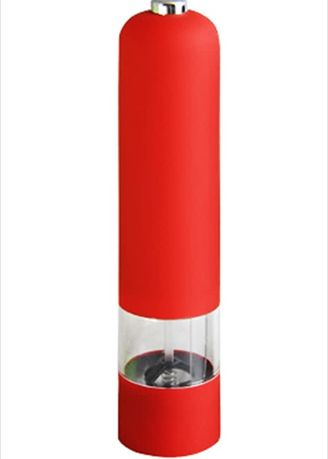 Red color Kitchen . Plastic Electric Salt & Pepper Mill - Free Magic Cleaning Sponge -