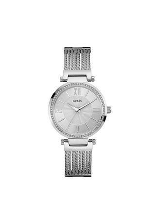 Silver color Analog . นาฬิกาข้อมือผู้หญิง Guess Soho Silver Tone Stainless Steel Ladies Watch W0638L1 -