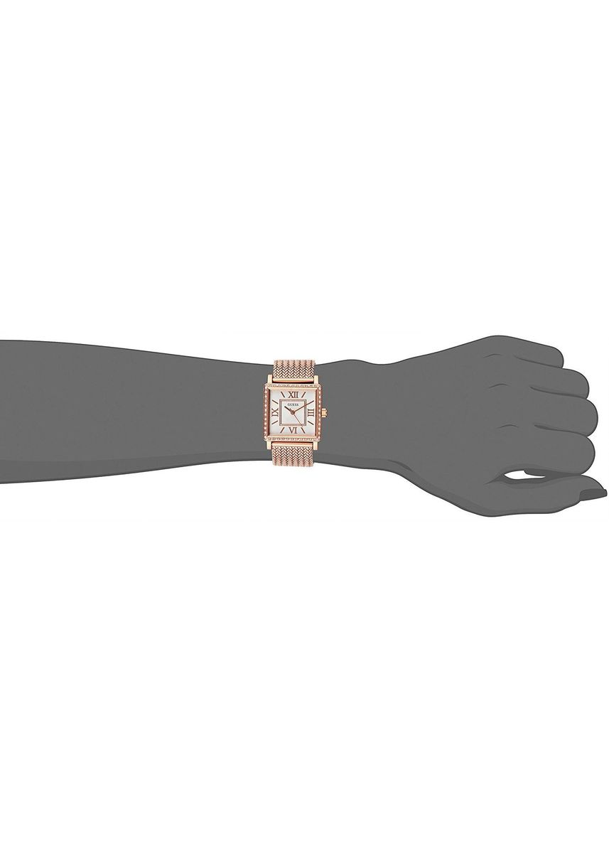 Gold color Analog . นาฬิกาข้อมือผู้หญิง Guess Highline Stainless Steel Mesh Bracelet Ladies Watch -
