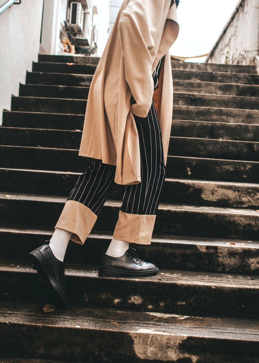 Multi color Casual Trousers and Chinos . Beige Bottom -