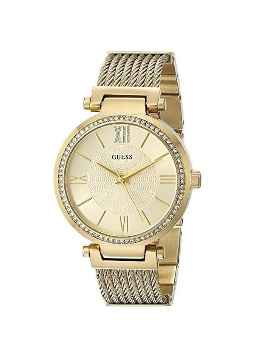 Gold color Analog . นาฬิกาข้อมือผู้หญิง Guess Soho Stainless Steel Ladies Watch -
