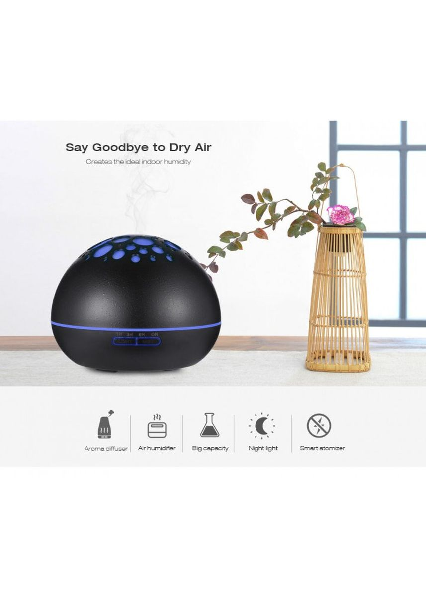Brown color Home Fragrances . H34 Wooden Humidifier Aroma Diffuser Essential Oil 300ml Dark Brown -