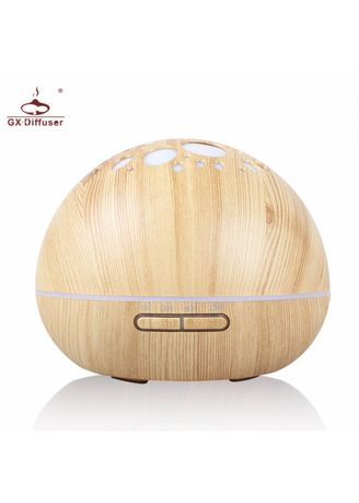 Brown color Home Fragrances . H34 Wooden Humidifier Aroma Diffuser Essential Oil 300ml Light Brown -