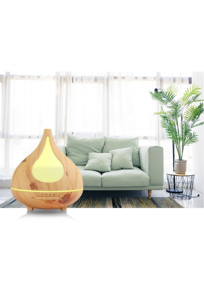 Brown color Home Fragrances . H35 Wooden Humidifier Aroma Diffuser Essential Oil 300ml Brown -