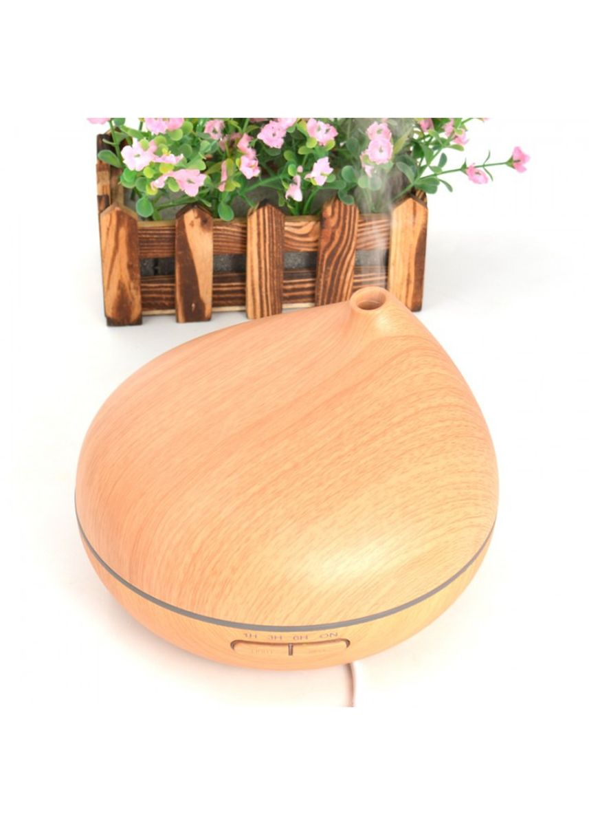 Brown color Home Fragrances . H36 Wooden Humidifier Aroma Diffuser Essential Oil 300ml Brown -