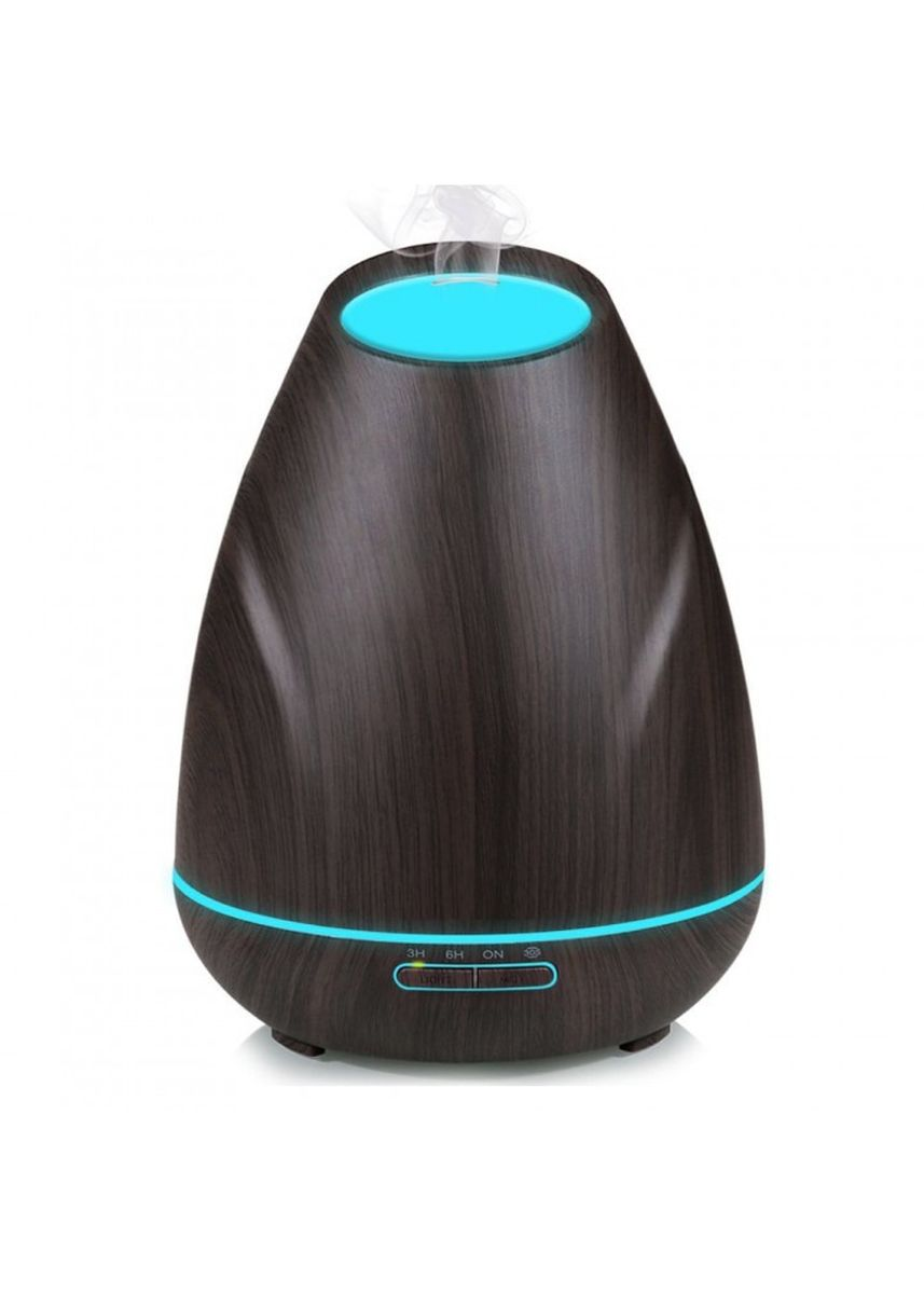 Black color Home Fragrances . H37 Wooden Humidifier Aroma Diffuser Essential Oil 400ml Black -