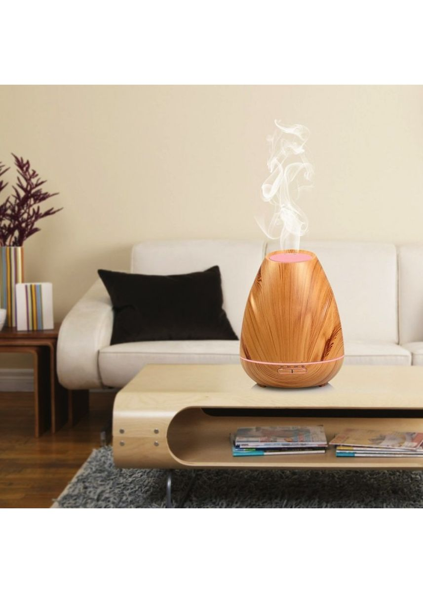 Brown color Home Fragrances . H37 Wooden Humidifier Aroma Diffuser Essential Oil 400ml Brown -