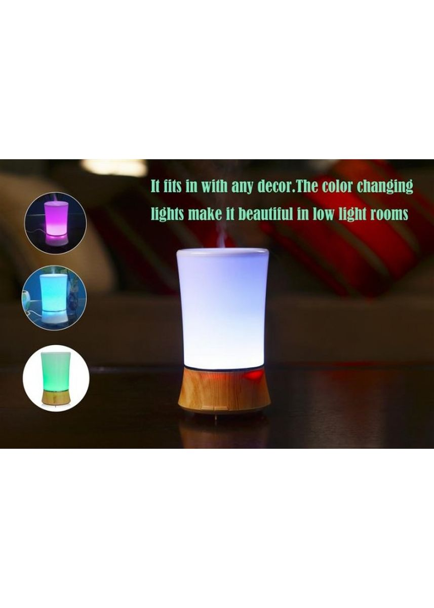 Brown color Home Fragrances . H39 - Humidifier Essential Oil Diffuser Purifier LED Light 150ml Brown -