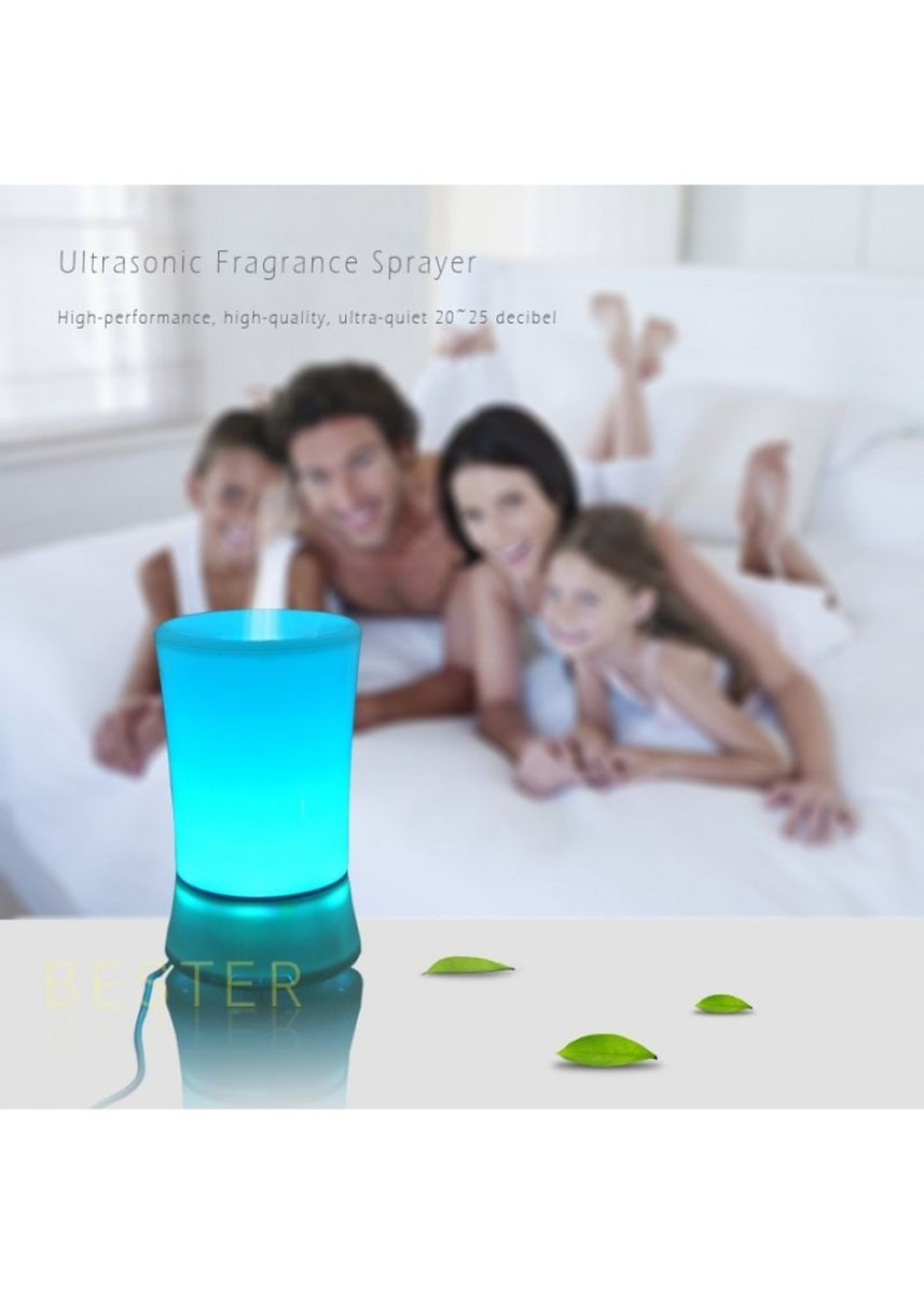 White color Home Fragrances . H39 - Humidifier Essential Oil Diffuser Purifier LED Light 150ml White -