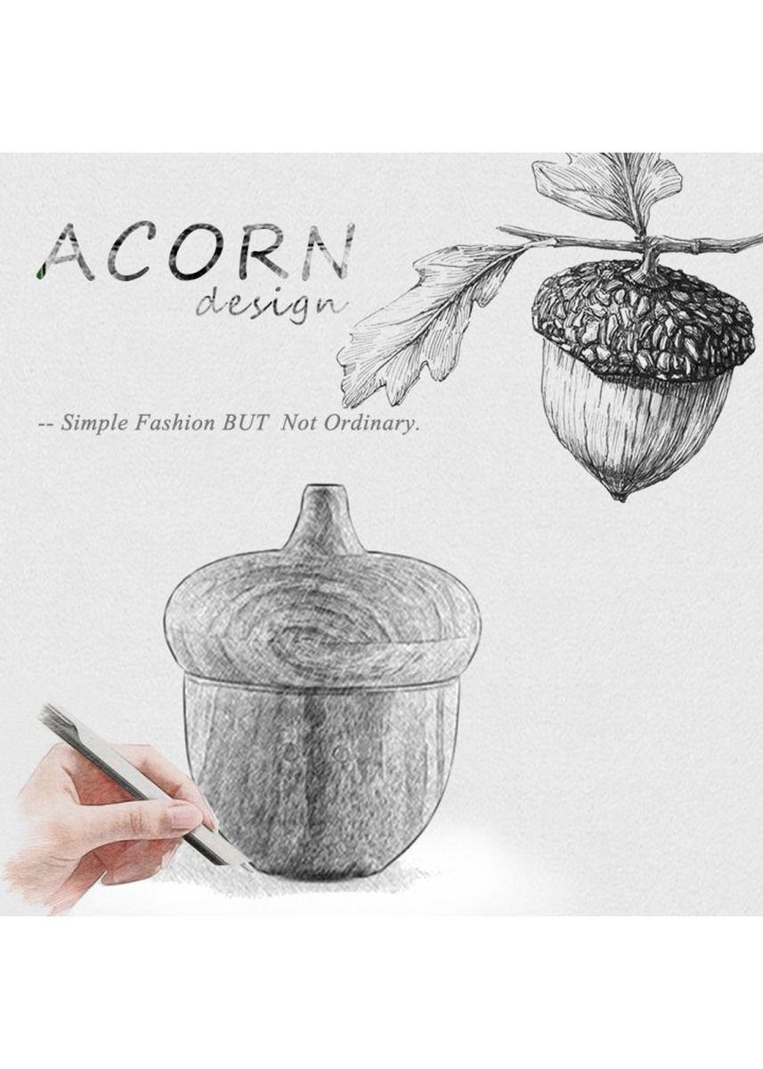 Black color Home Fragrances . H43 ACorn Humidifier Essential Oil Diffuser LED Light 300ml Black -