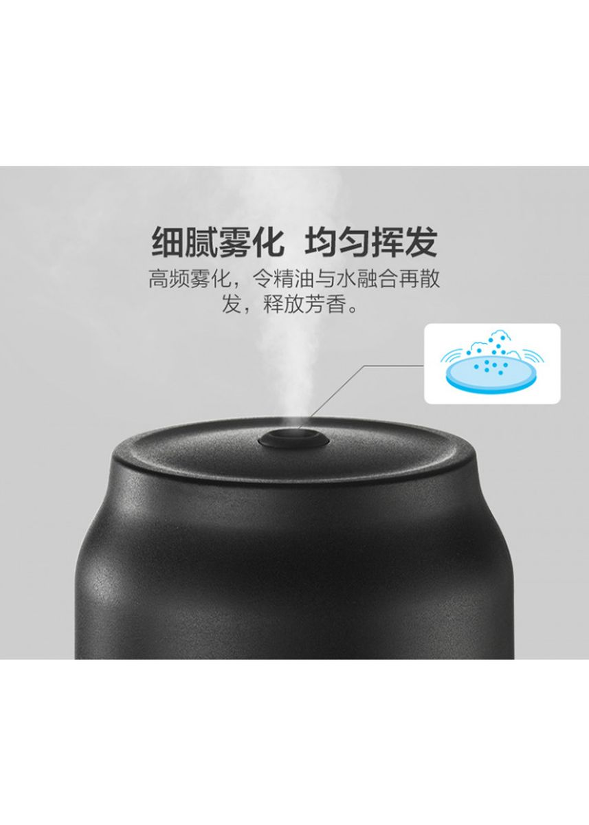 Black color Home Fragrances . JSQ-D02A1 Humidifier Essential Oil Diffuser Purifier LED Light 200ml -