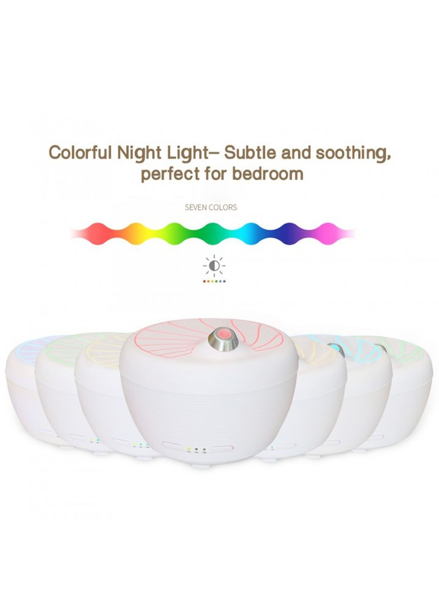 White color Home Fragrances . U09 USB Humidifier Aroma Diffuser Essential Oil 7 Color LED - 200ml -