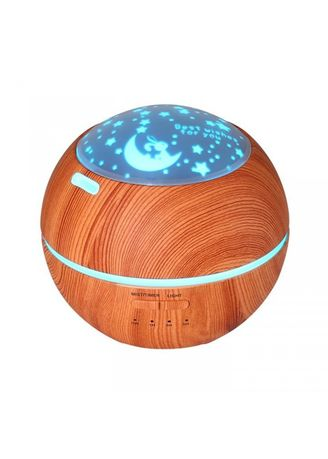 Brown color Home Fragrances . Wooden Romantic Projection Aroma Diffuser Humidifier - 150ml Brown -