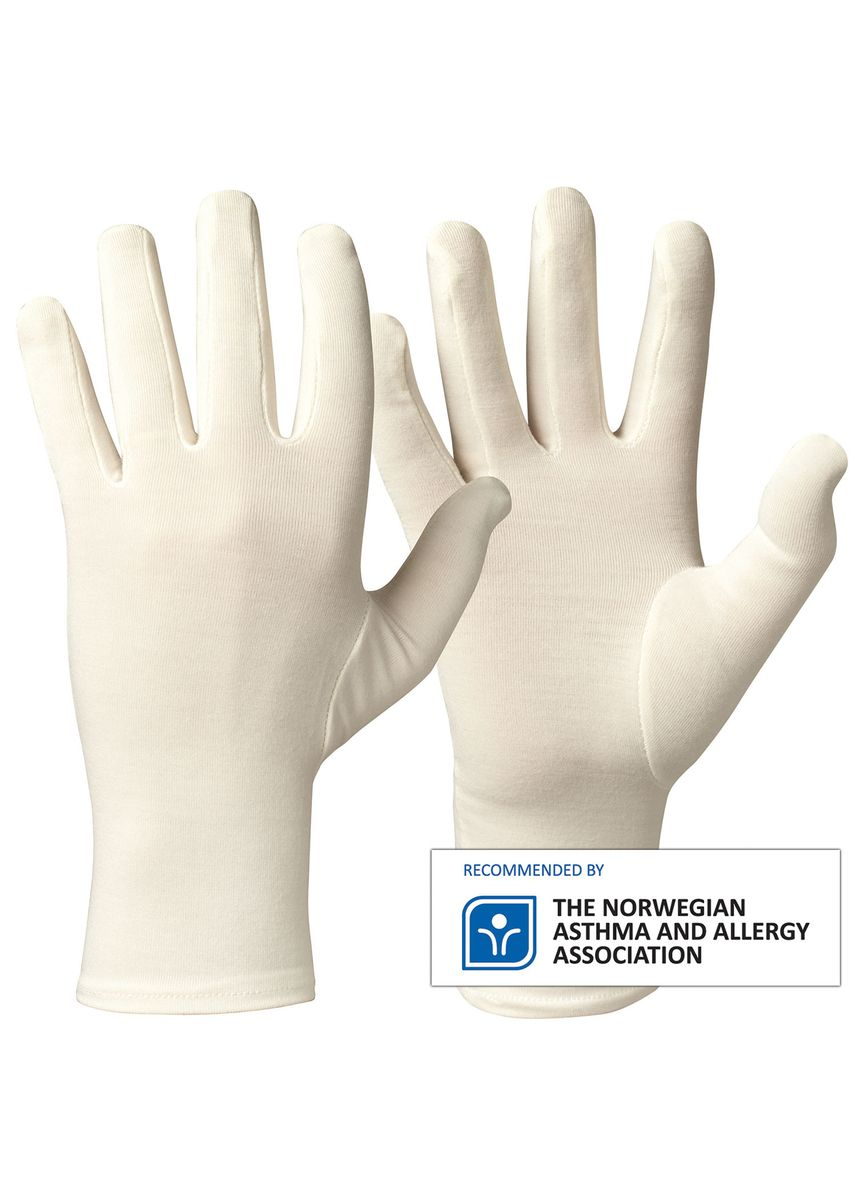 White color Other . Comfortable Soft Bamboo Gloves For Allergy, Eczema, Dry Skin Protection -