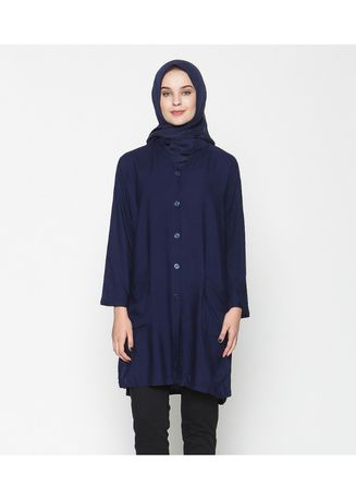 Navy color Tops . Ayako Fashion Tunik Zuri - AY (7 Warna) -