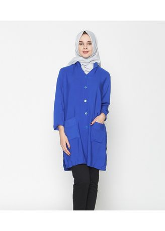 Blue color Tops . Ayako Fashion Tunik Zuri - AY (7 Warna) -