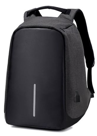 b8001fa430 16 INCH Men Anti-theft External USB Charge Notebook Backpack