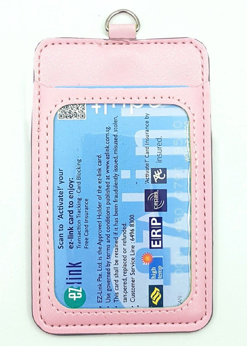 Pink color Wallets and Clutches . 10Pcs Slim PU Deluxe Card Portrait -