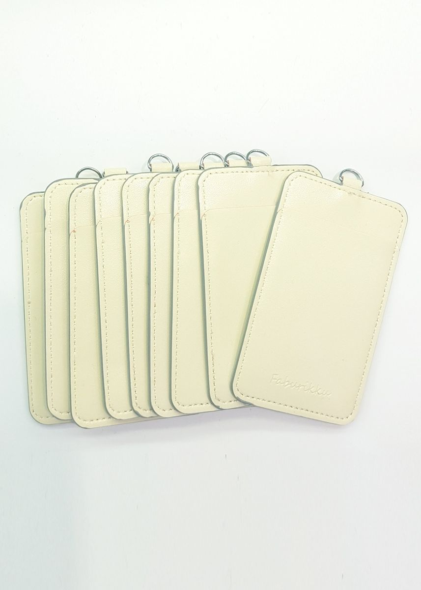 Beige color Wallets and Clutches . 10Pcs Slim PU Deluxe Card Portrait -