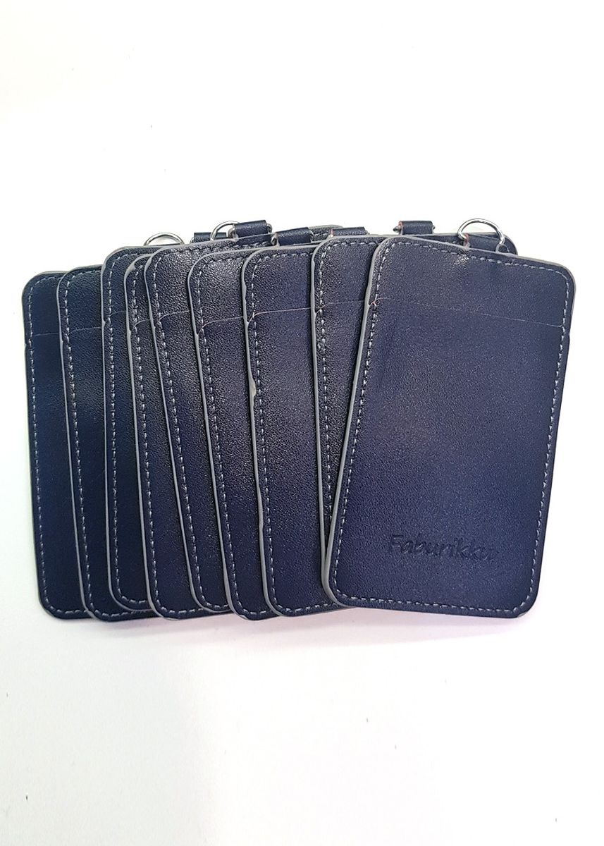 Navy color Wallets and Clutches . 10Pcs Slim PU Deluxe Card Portrait -