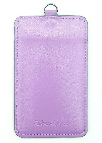 Purple color Wallets and Clutches . Slim PU Deluxe Card Portrait -
