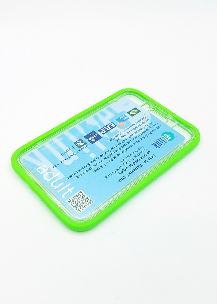 Green color Wallets and Clutches . Silicon Hardcase Deluxe Card Portrait -