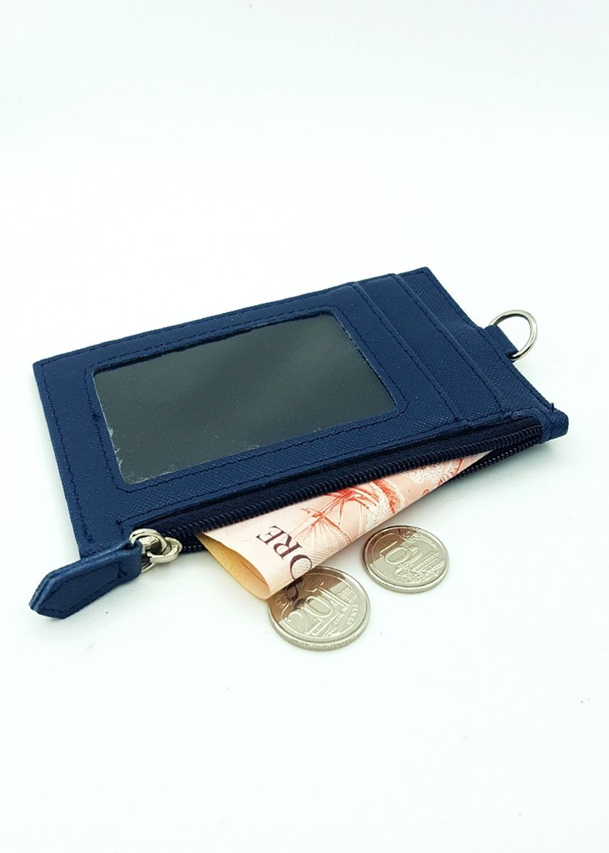 Navy color Wallets and Clutches . Zip Premium Cardholder Portrait -