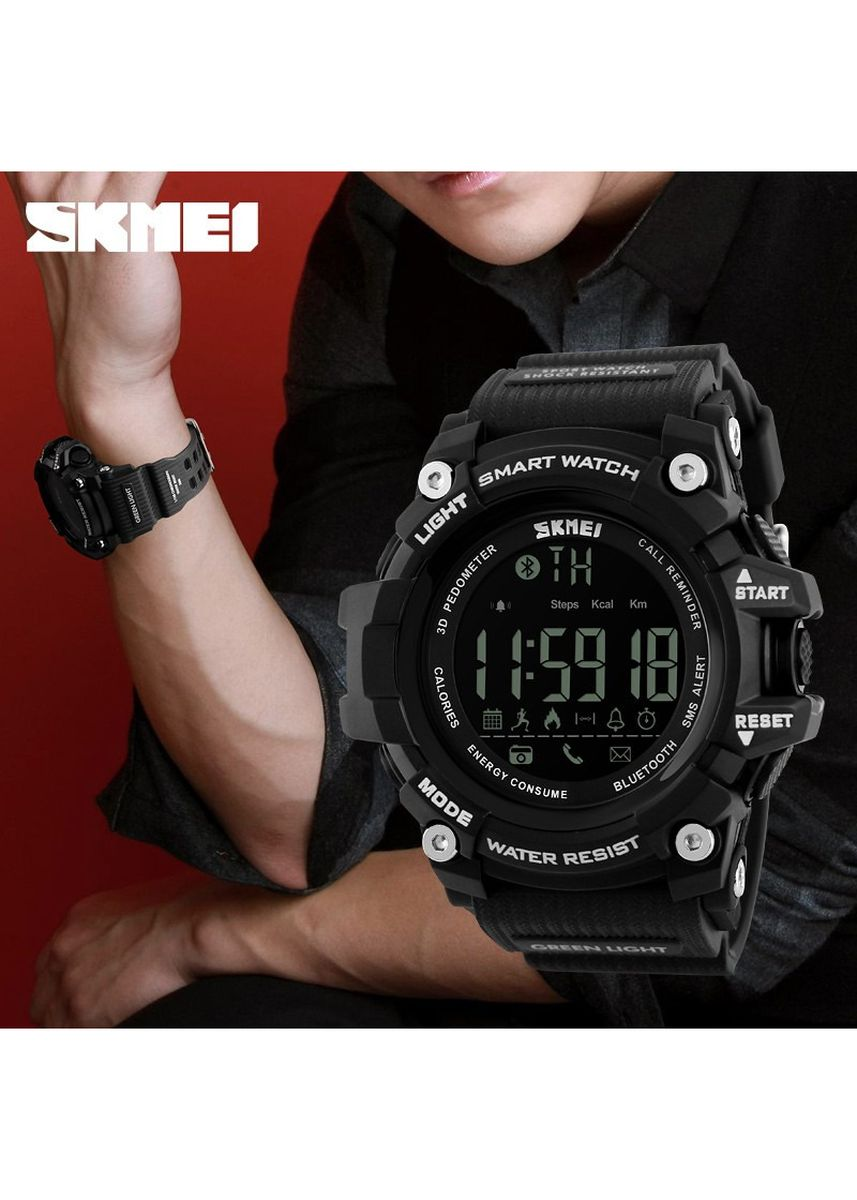 Black color Analog . SKMEI 1227 Jam Tangan Olahraga Smartwatch Bluetooth -