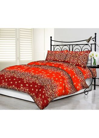 Multi color Bedroom . Tommony Sprei Queen 160 x 200 - Red Gold -