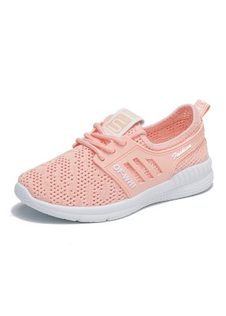 Pink color Casual Shoes . Summer sports shoes female students running casual breathable white shoes  -