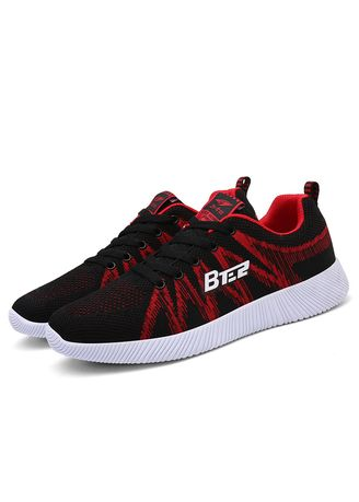 Red color Sports Shoes . Men's outdoor light running shoes  -