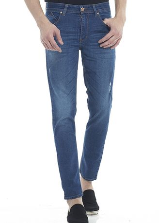 Biru color Celana Jeans . 2Nd RED Celana Jeans Slim Fit Comfort Distro 133269F -