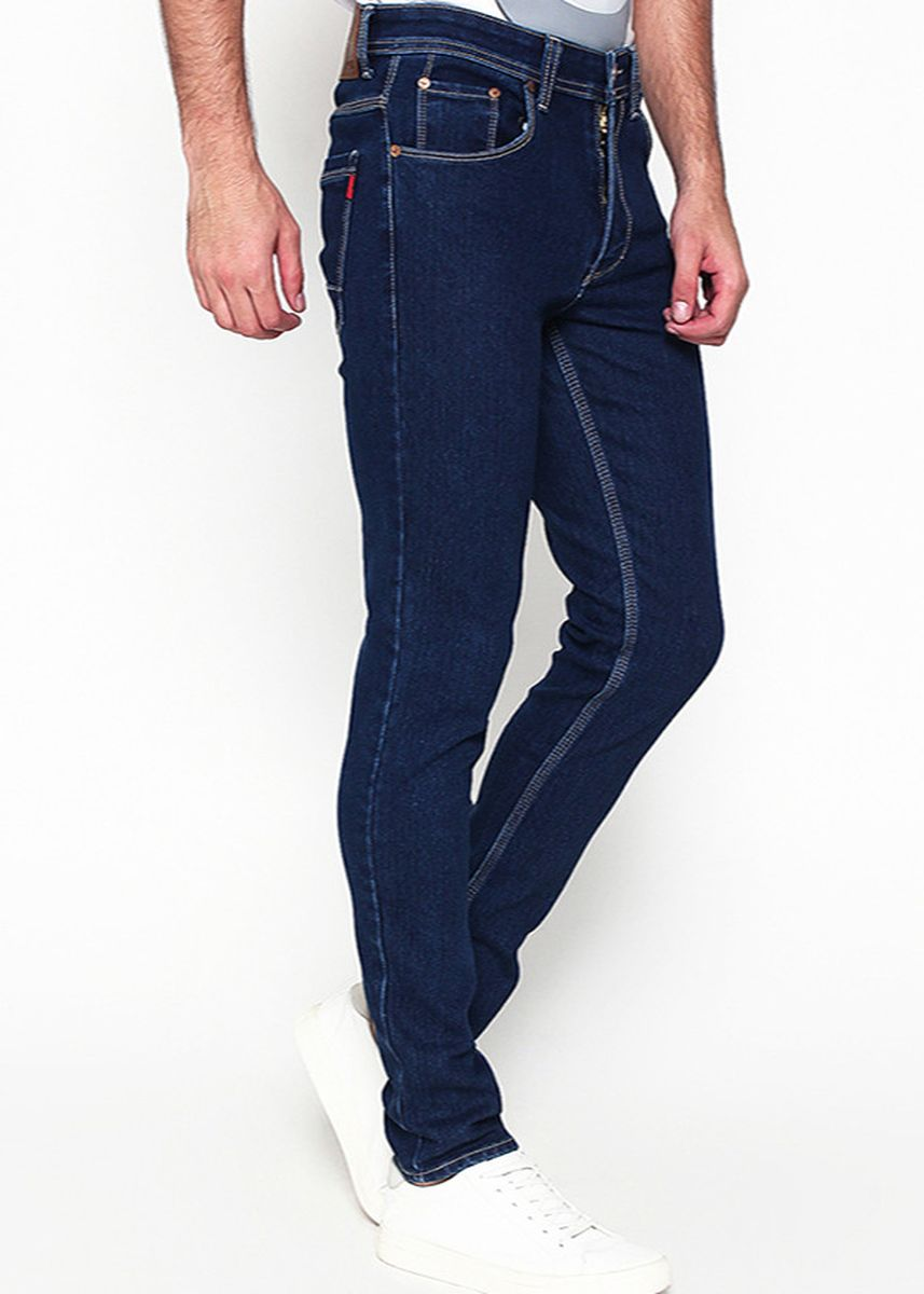 Biru Dongker color Celana Jeans . 2Nd Red Slim Fit Denim Raw Navy 133251A -