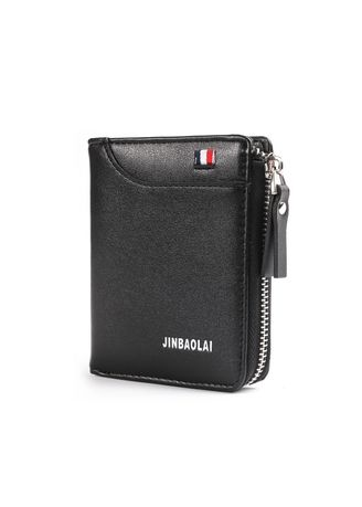 Soft Leather Zip Around Wallet With Photo id and Credit Cards Slots
