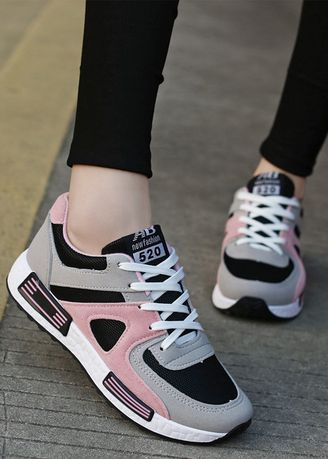 Pink color Casual Shoes . Breathable Joker Casual Shoes -