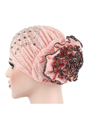 Hijab . Hot drilling double color flower hijab -