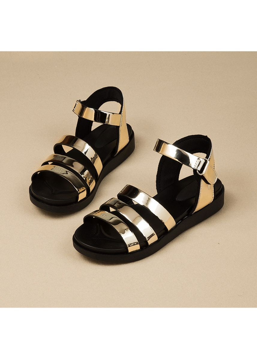 ทอง color รองเท้า . 2018 Summer New Korean Girls Baby Sandals Girls Fashion Wild Princess shoes Children Soft bottom Sandals -