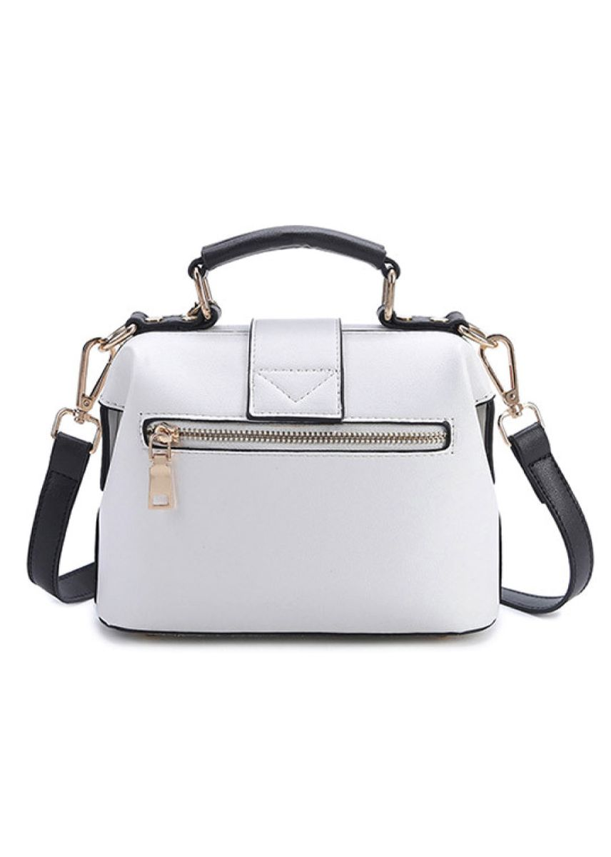 White color Hand Bags . Korean lips pattern embroidered ladies bag -
