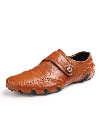 Brown color Casual Shoes . Men's Loafers Leather Casual Shoes -