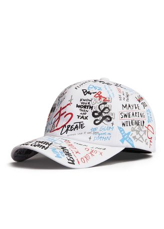 White color Hats and Caps . หมวกแก๊ปทรง Baseball รุ่น Flipper 4SKETCH สีขาว -