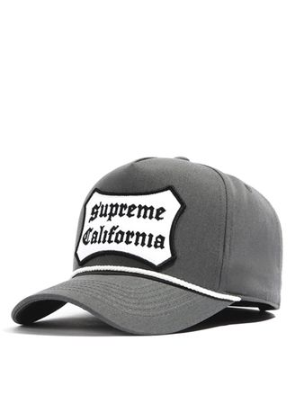 Grey color Hats and Caps . หมวกแก๊ปทรง Baseball รุ่น California Patch สีเทา -