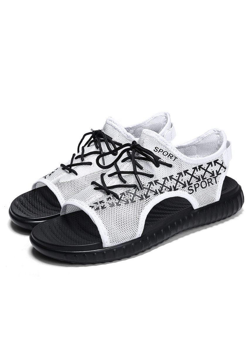 White color Sandals and Slippers . new summer breathable days beach shoes  -