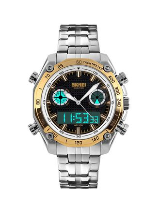Gold color Digital . SKMEI Fashion Men Sport Digital Watch -