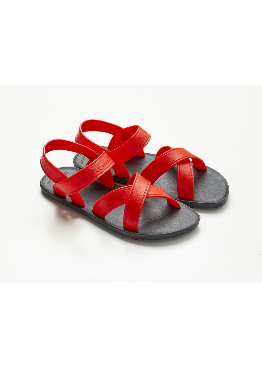 Red color Sandals and Slippers . รองเท้ายาง รัดส้น (MC06) -