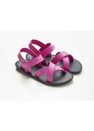 Violet color Sandals and Slippers . รองเท้ายาง รัดส้น (MC06) -