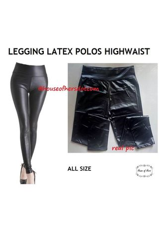 Legging Latex Polos Highwaist Women S Leggings Zilingo Shopping Thailand