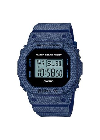 Biru Dongker color Jam Analog . Jam Tangan Wanita Denim Model Casio Baby-G BGD-560DE-2 Original -