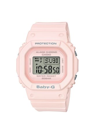 Pink color Analog . Jam Tangab Wanita Sporty Casio Baby-G BGD-560-4D Original -