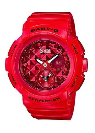 Red color Analog . Terbaru !! Jam Tangan Wanita Sporty Casio Baby-G Original BGA-195M-4A -