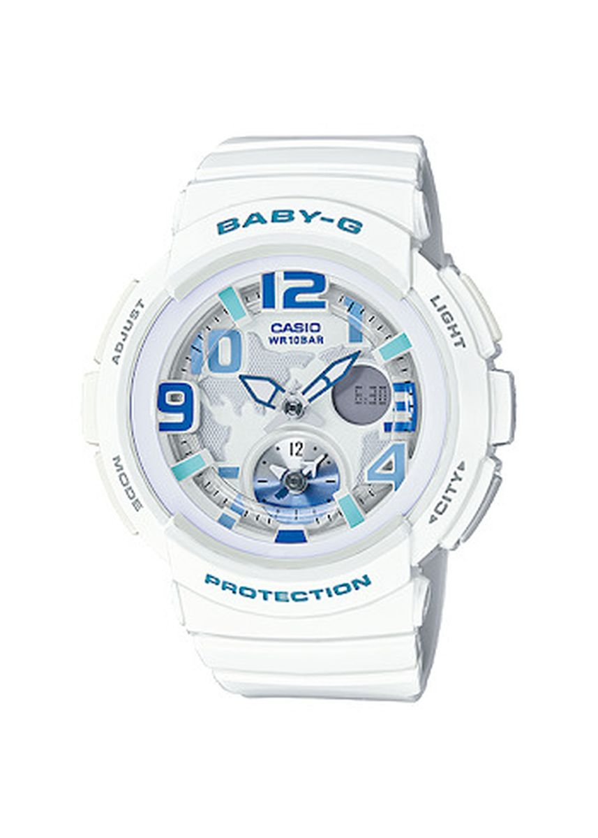 White color Analog . Jam Tangan Casio Baby-G Original World Time BGA-190-7B Original -